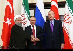 نشست سهجانبه سران ایران، روسیه و ترکیه آغاز شد