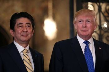 درخواست رئیس جمهور ژاپن از ترامپ برای دیدار فردا با کیم جونگ اون