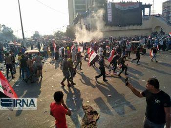 تیراندازی و انفجار بمب های صوتی در بغداد