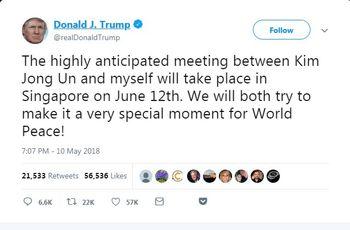 زمان و مکان دیدار ترامپ با رهبر کره شمالی اعلام شد