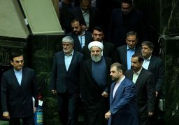 سخنان روحانی در صحن علنی مجلس آغاز شد