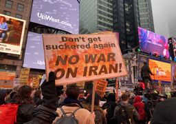 تظاهرات علیه جنگ با ایران در آمریکاواروپا +عکسوفیلم