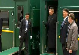 رفتار عجیب تیم همراه رهبر کره شمالی در روسیه +فیلم