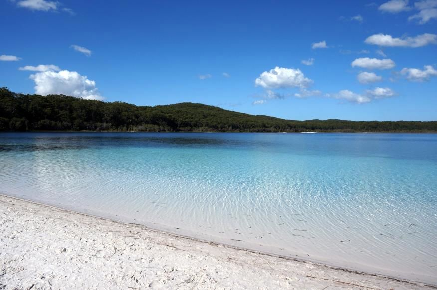 """Slide 16 of 16: Located on Fraser Island in Queensland, this completely clear lake looks like something from the nearby ocean coast. Rimmed by white sand beaches, the lake owes its purity to its geography: Fraser's Island is the world's largest """"sand island,"""" and it also has half of the world's """"perched lakes,"""" sand dune depressions filled entirely of rainwater, including Lake McKenzie. The lake has no rivers that feed it; nor does it drain to the ocean. The purity of the lake means that no fish can live in it, so the water remains glittering blue all the time. Next, check out these gorgeous beaches with the clearest water in the world."""