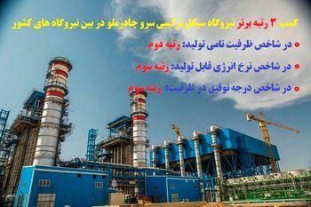 نیروگاه سرو چادرملو سومین نیروگاه برتر