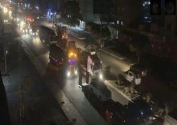 ورود شبانه75 کامیون نظامی آمریکا به سوریه!