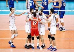 خوش شانسی تیم ملی والیبال ایران