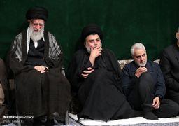 تصاویر مراسم شام غریبان در حضور رهبری، قاسم سلیمانی، مقتدا صدر، احمدینژاد و ...