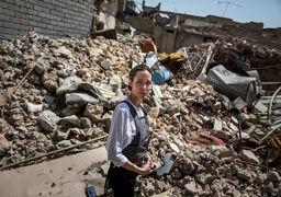 بازدید آنجلینا جولی از مرکز خلافت داعش در موصل +فیلم