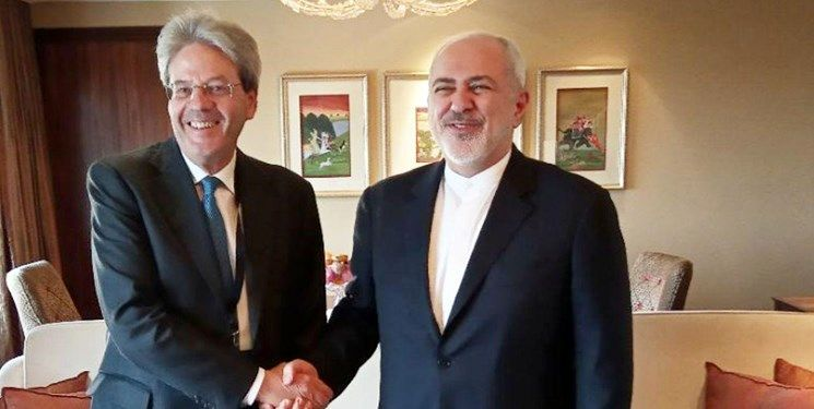 دیدار نخست وزیر سابق ایتالیا با ظریف در دهلینو