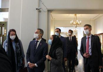 عکسهای وزیر امور خارجه سوییس در نیاوران