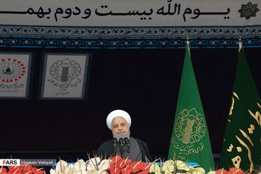 سخنرانی روحانی در مراسم 22 بهمن