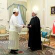 تصاویری از مهمانان روحانی با پوششی عجیب