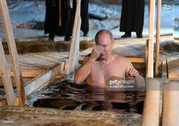 آب تنی کردن ولادمیر پوتین در دمای زیر صفر! + عکس