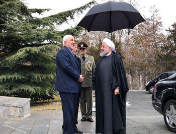 ظریف بازگشت/ حضور در مراسم استقبال از نخستوزیر ارمنستان +تصاویر