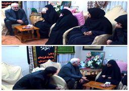 دیدار ظریف با خانواده شهید سردار سلیمانی
