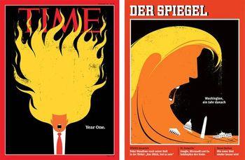 تصاویر جنجالی ترامپ سوژه همیشگی مجلهها