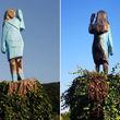 مجسمه سوخته ملانیا ترامپ به نمایش درآمد+ تصویر