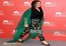 پوشش متفاوت فاطمه معتمدآریا در جشنواره ونیز